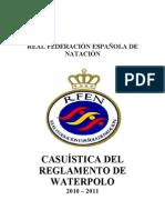 Casuistic A Del to Waterpolo -Actualizada Enero 2011