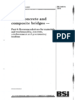1. BS 5400-8 1978 Steel, Concrete and Composite Bridges (Specification for Loads)