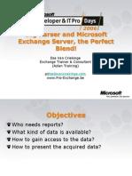 ITPRO Log Parser and Microsoft Exchange Server the Perfect Blend Ilse Van Criekinge