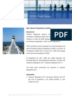 KPMG Flash News Takeover Code 2011