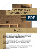 Types of Mud Wall Construction