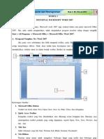 Bab 1 Panduan Ms Word 2007