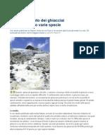 Lo Scioglimento Dei Ghiacciai Mette a Rischio Varie Specie - La Repubblica