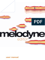 Manual Melodyne Editor English