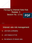 13 to 20 Interest Rate Risk Management