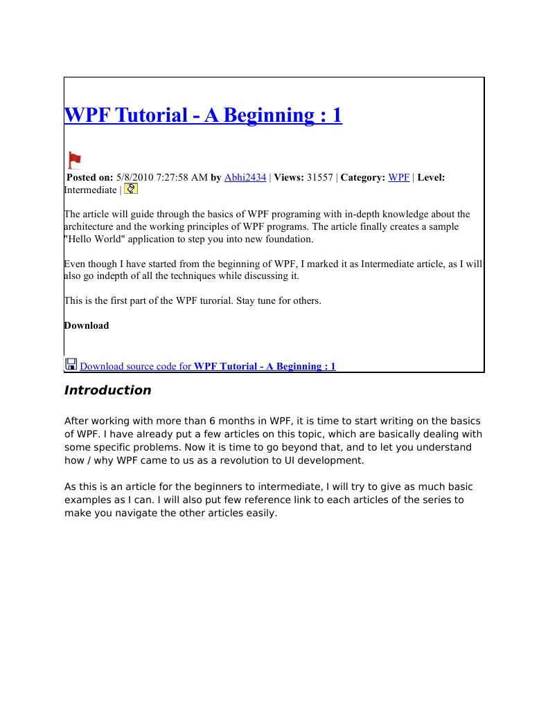 Wpf tutorial windows presentation foundation extensible wpf tutorial windows presentation foundation extensible application markup language baditri Gallery
