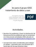 Actividades Para El Grupo 4202