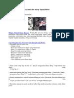 Cara Mengukur Dan Menyetel Celah Katup Sepeda Motor