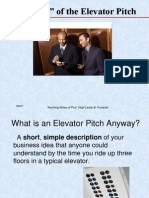 03 the Elevator Pitch