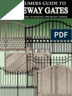 Driveway Gate Consumer Guide