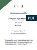 EU Policies and Cluster Development of Hydrogen Communities (Eng) / Politicas de la UE y el desarrollo de clusters del hidrogeno (Ing) / Politicas de la UE y el desarrollo de clusters del hidrogeno (Ing)