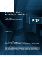 A Study of ADB's Knowledge Taxonomy