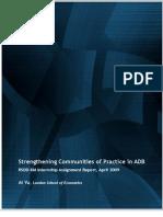 Strengthening Communities of Practice in ADB