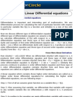 Higher Order Linear Differential Equations