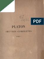 Platon - Hippias, Alcibiade, Apologie, Euthyphron, Criton - Oeuvres I (Trad Croiset)