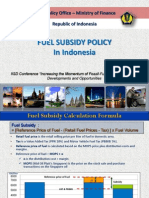 FUEL SUBSIDY POLICY In Indonesia