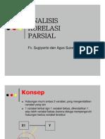 ANALISIS KORELASI PARSIAL