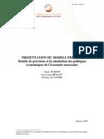 Présentation du modèle PRESIMO