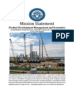 Mission Statement Assignment (Product Development Management & Economics)