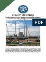 Mission Statement Assignment (Product Development Management & Economics)