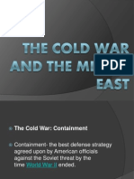 Cold War Politics & Thesis Statement