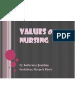 Values of Nursing Ppt
