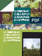 La codicia del subsuelo en la amazonía ecuatoriana