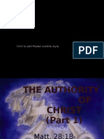 AUTHORITY Christ NEW Part1 Express Scripture Us 2 11-3-07
