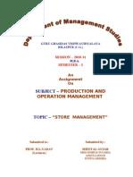 Stores Management