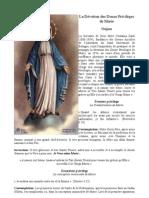 Les 12 privilèges de Marie