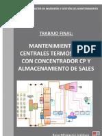 0006 Mantenimiento de Centrales Termosolares Con or Cp y Almacenamiento de Sales
