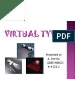 Virtual Typing1
