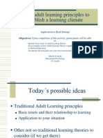 Adult Learning Theory Scholars Program