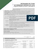 Programme Des Cours Fce 2011-2012