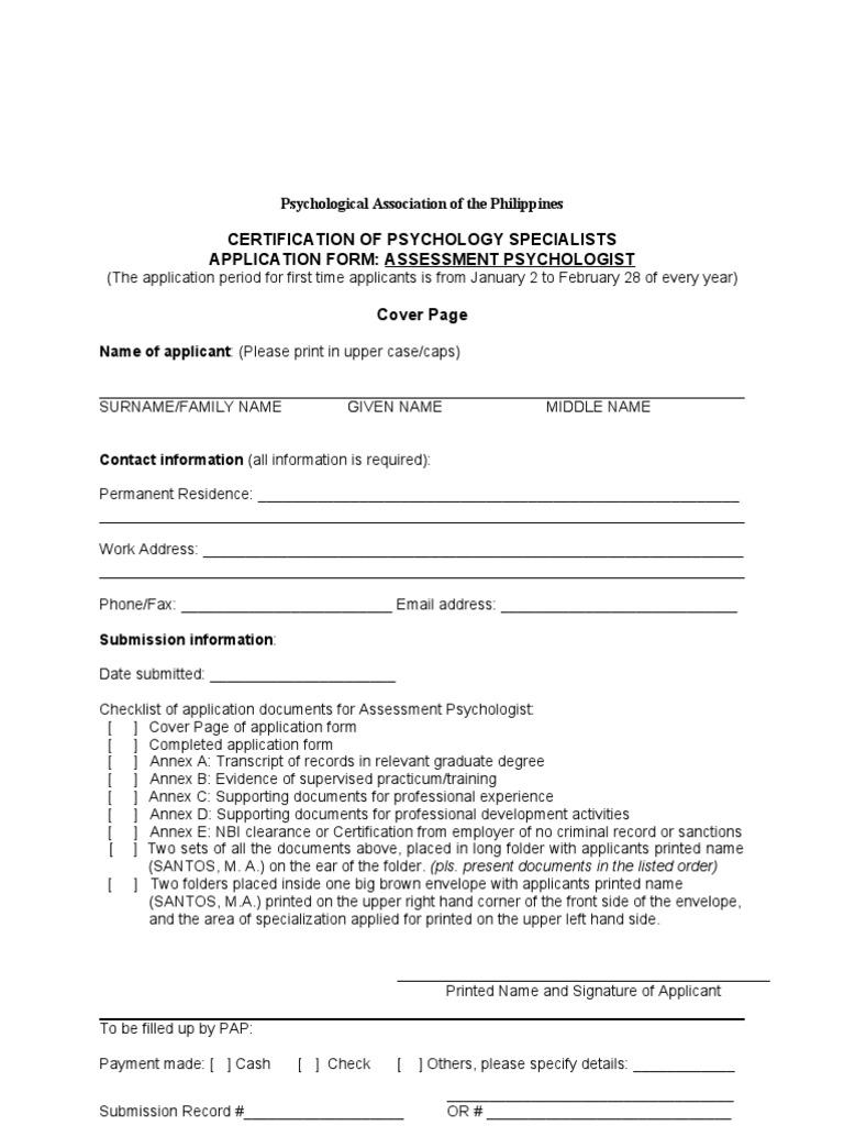Assessment psychologist application form doc educational assessment psychologist application form doc educational assessment clinical psychology 1betcityfo Choice Image