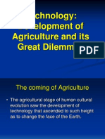 Development of Agriculture and Its Great Dilemmas