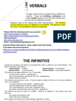 Advanced English Grammar on Verbals (Infinitive-Participle-Gerund)