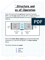 BJT Structure and Modes of Operation