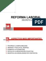 Reforma Laboral del Pp (Resumen)