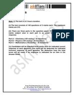 AskIITians Aieee Sample Paper