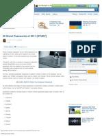 25 Worst Passwords of 2011