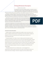 Sample Technical Writing Mechanism Description