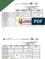 Horarios (Pnf Ing Matenimiento Trayecto 1, Trimestre 1 Febrero-mayo 2012