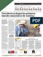 Descubren en Bagua primeros murales  amazónicos de América