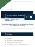 Presentation, Stakeholder VsShareholder Diagnostic and Valuation of Firms