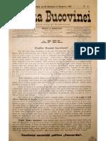 Gazeta Bucovinei # 85, Joi 26 Octombrie (7 Noiembrie) 1895