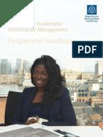 BA Hons Sustainable Performance Management Handbook