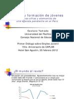 Gustavo Yamada - Empleo y formación de jóvenes