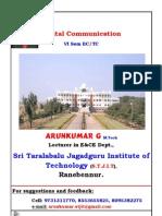 0 6th Sem Digital Communication Notes by Arunkumar.G,Lecturer in EC Dept, STJIT, Ranebennur