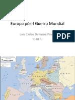 Europa pós-I Guerra Mundial